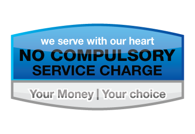 No Compulsory Service Charge