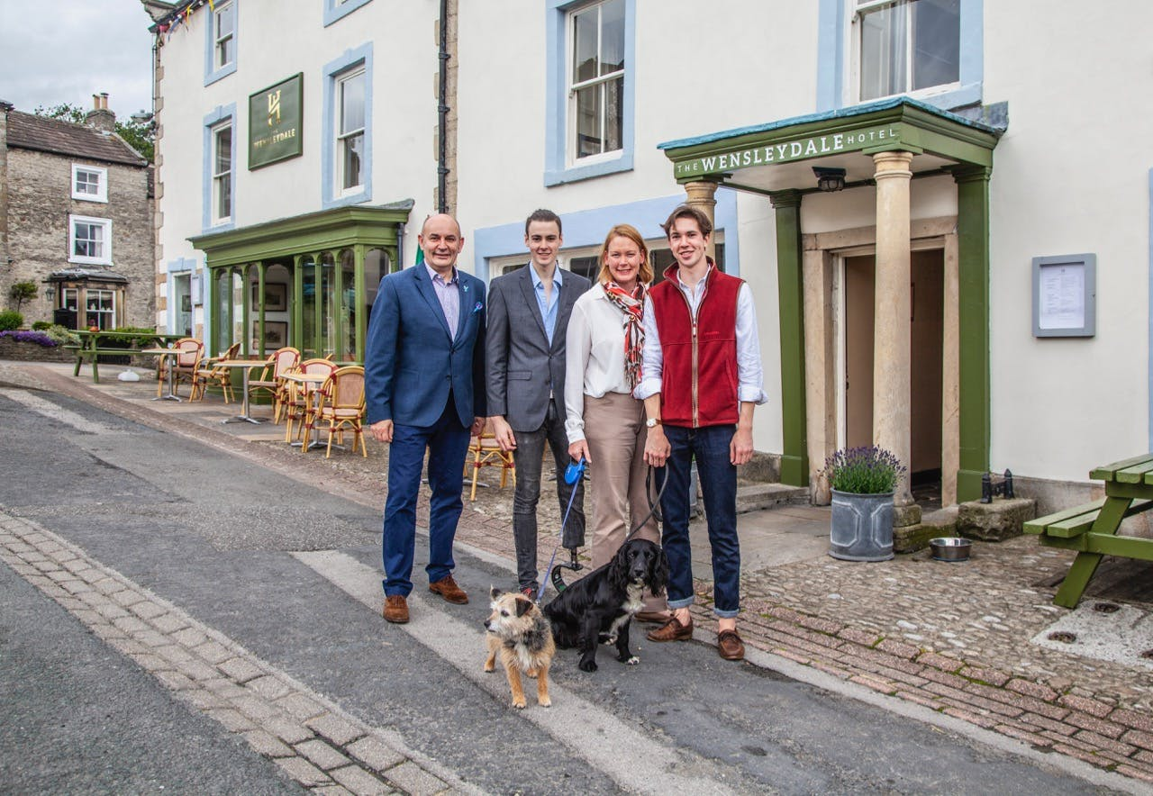 The Merchie Family, owners of The Wensleydale Hotel and The Tack Room Restaurant & Bar, Middleham, Yorkshire Dales