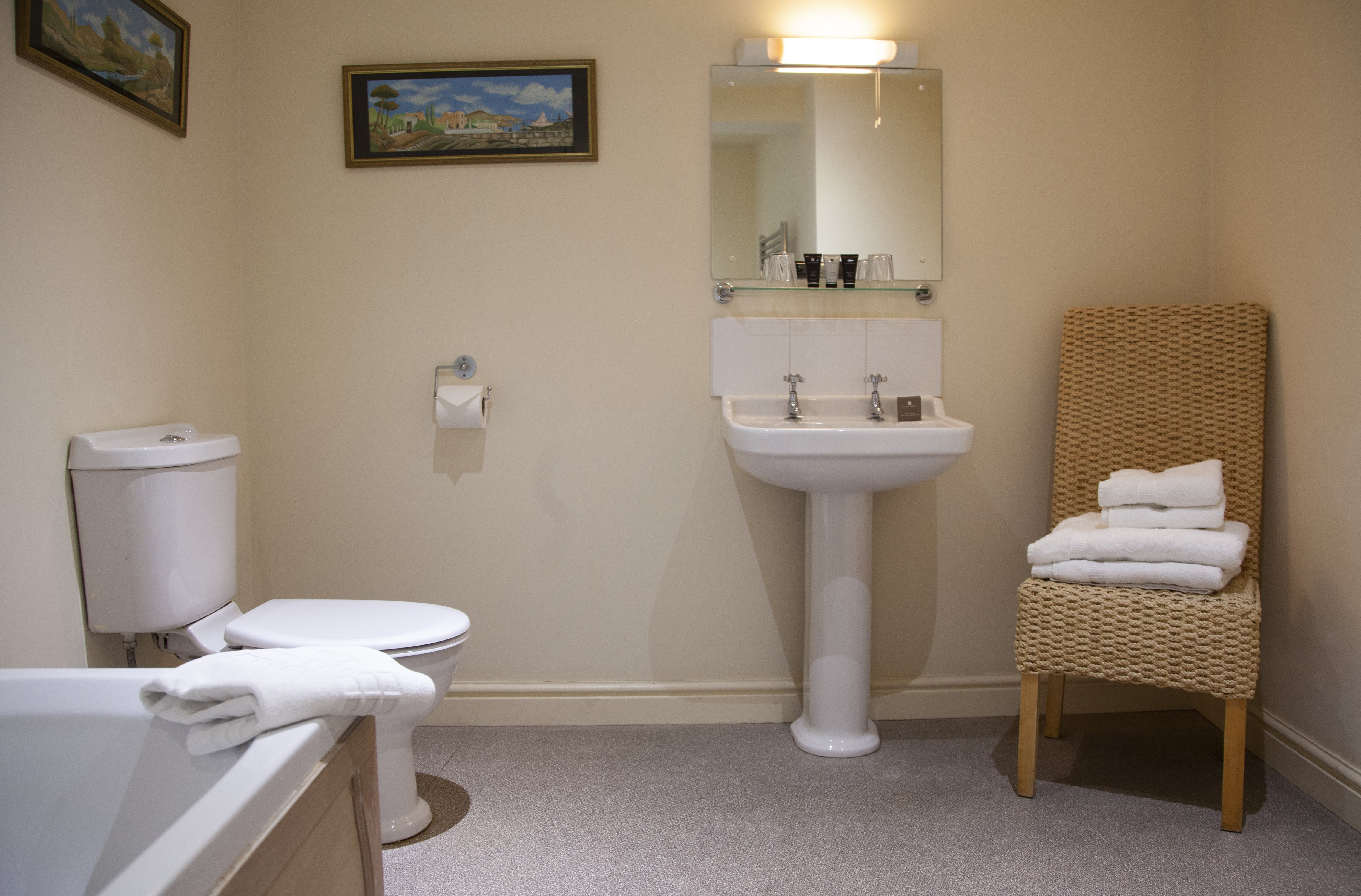 Bathroom at The Wensleydale Hotel, Middleham, offers boutique accommodation in the heart of the Yorkshire Dales