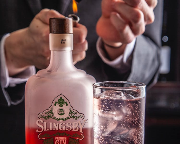 Slingsby Gin at The Wensleydale Hotel, The Tack Room Restaurant & Bar, Wensleydale, Yorkshire Dales