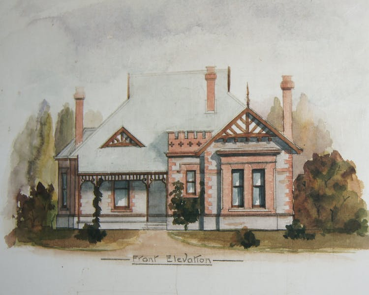Water colour sketch from the original plans 1903