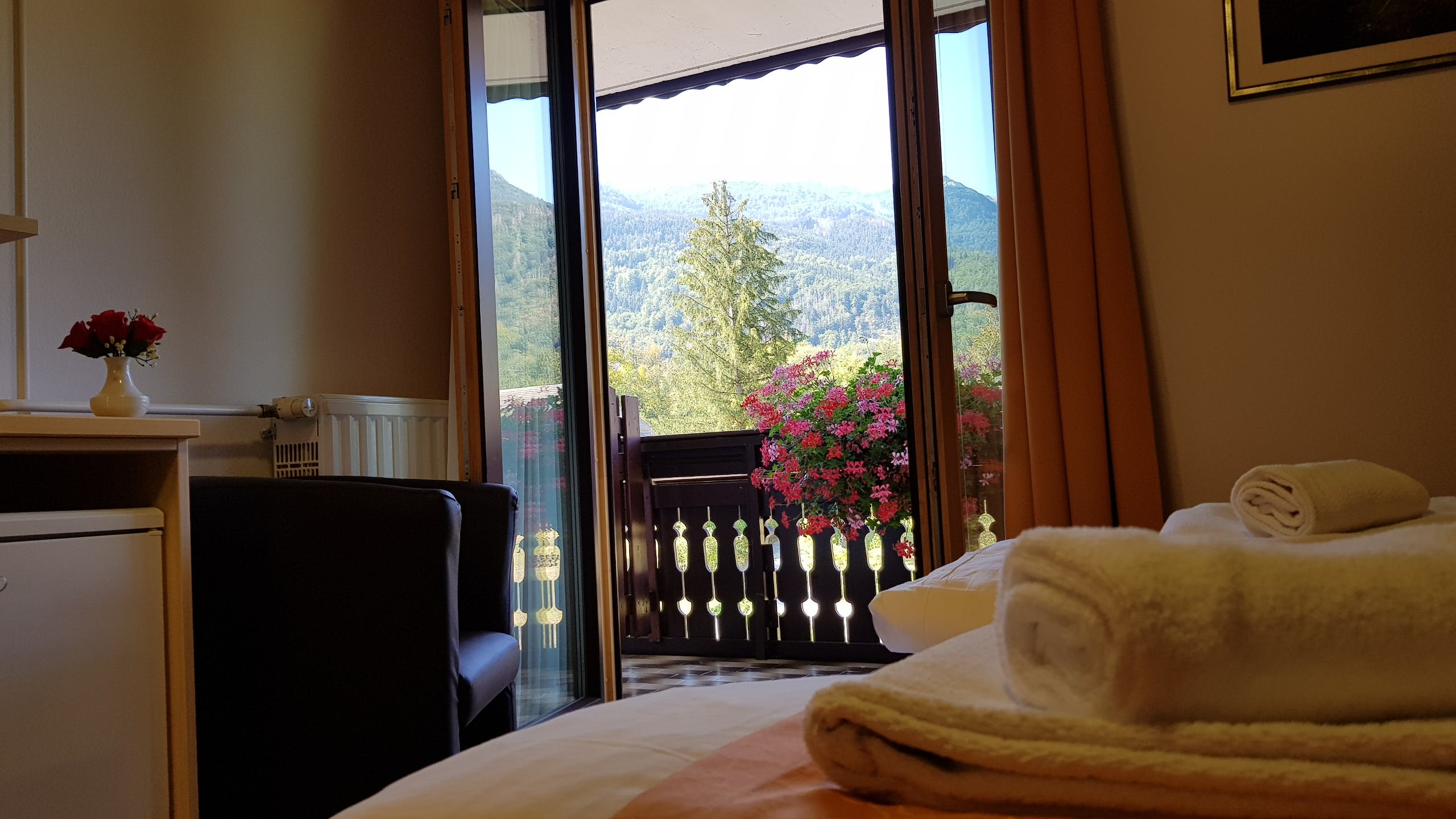 Double Room with Balcony and Mountain view