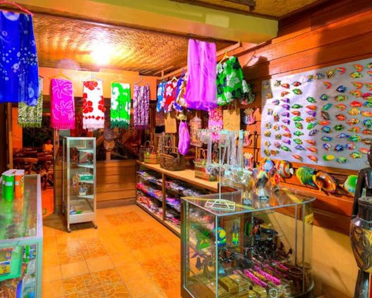 Lally and Abet has a small boutique where souvenirs and toiletries are available