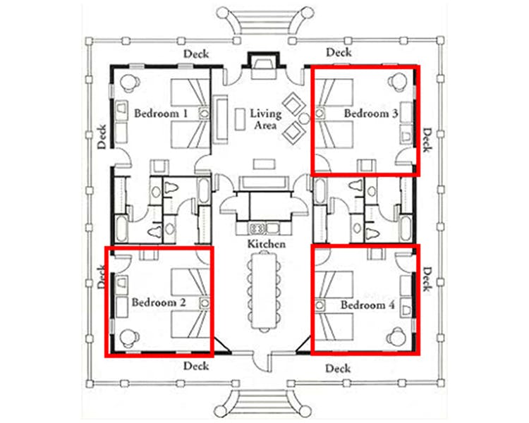 Glade Springs Room Layout