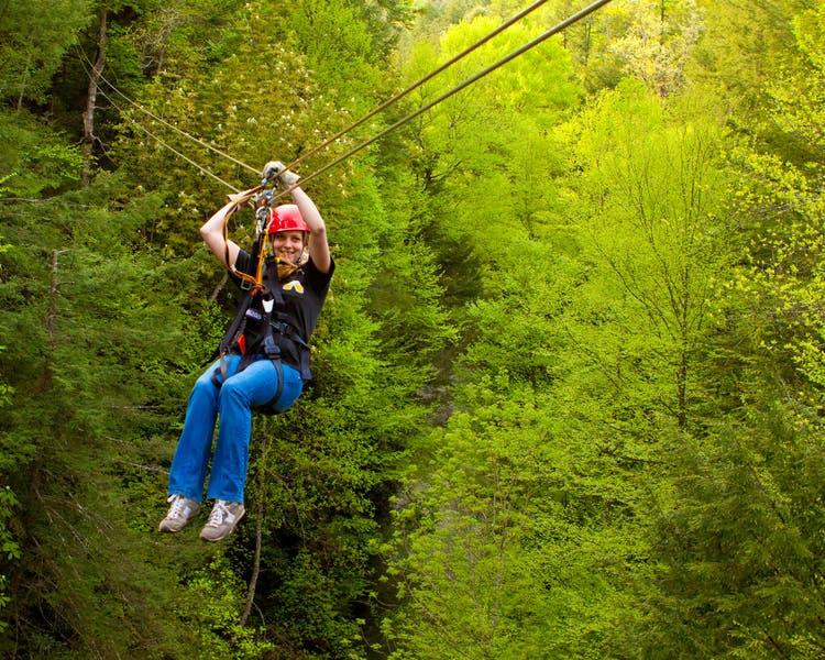 Ziplining at Glade Springs