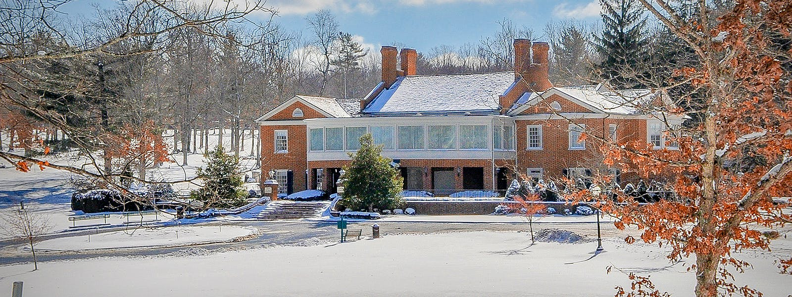 Clubhouse in Winter at Glade Springs