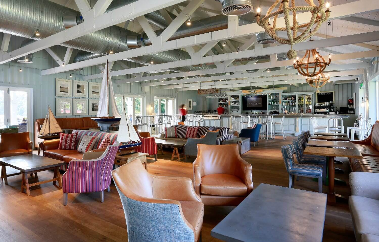 The Boat House bar area