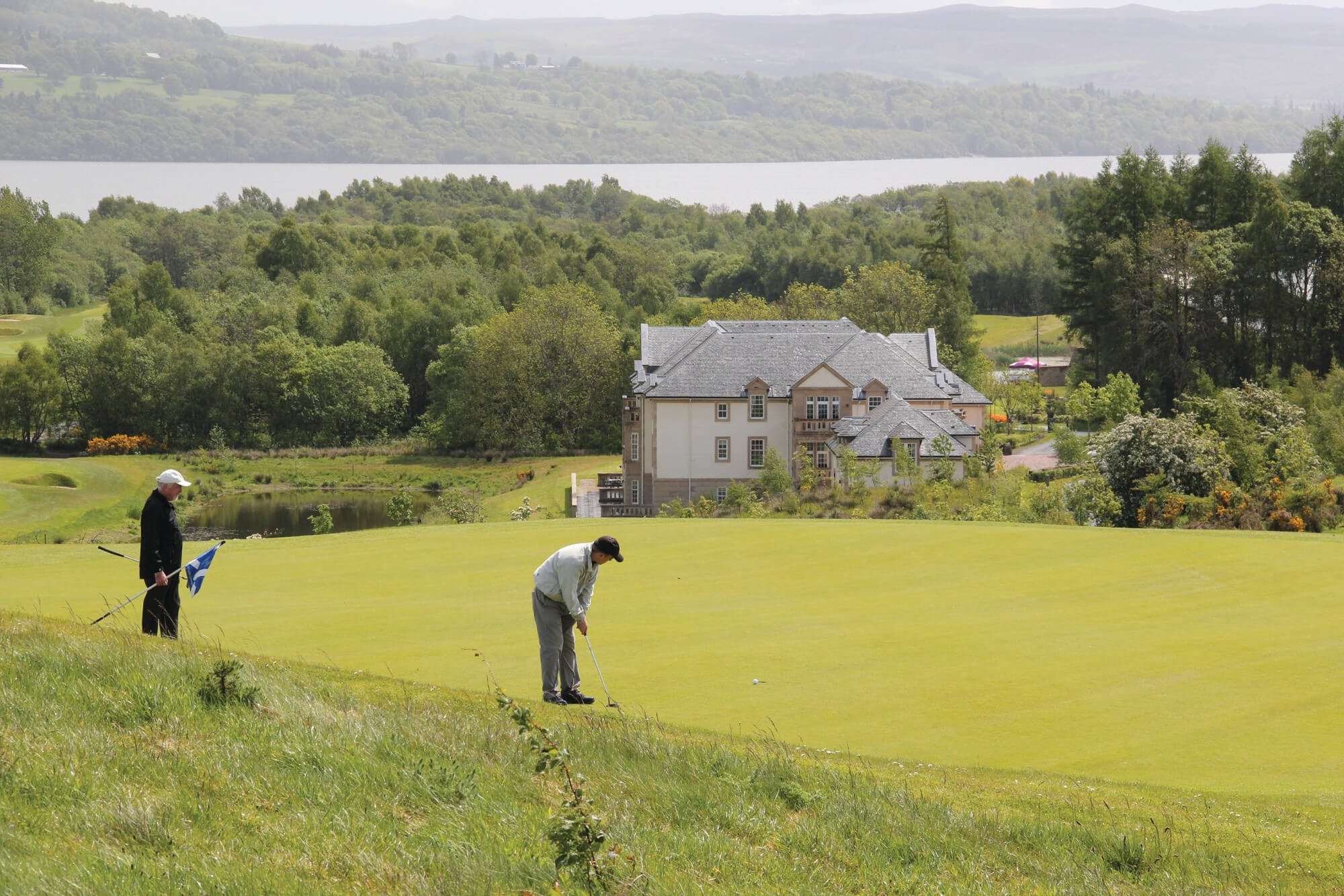 Golfer in Loch Lomond