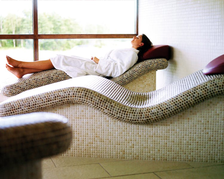 Guest Relaxing at Cameron House Spa at Carrick Estate