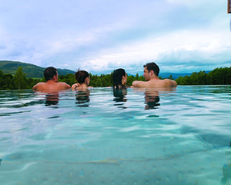 Guests in Infinity Pool at Cameron House