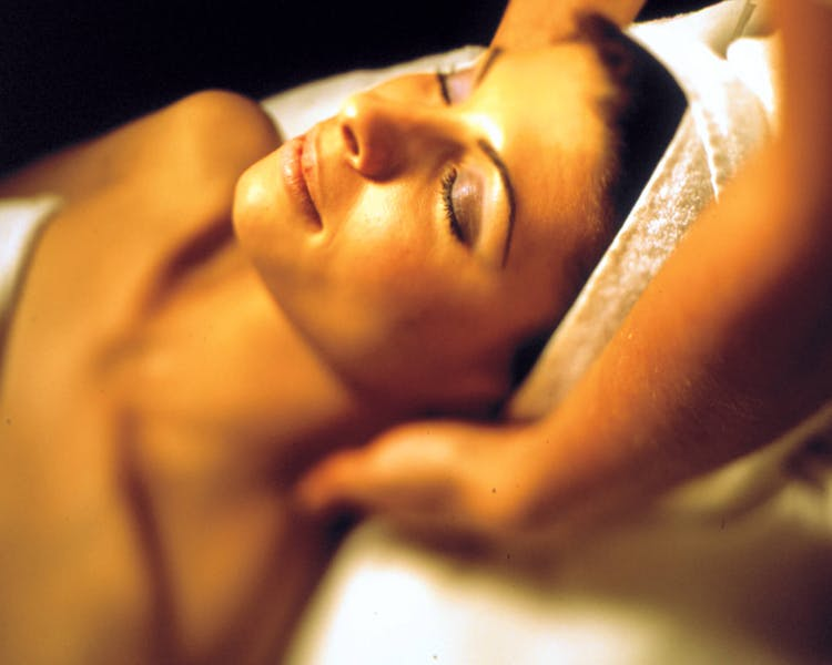 Guest massaged at Cameron House Spa