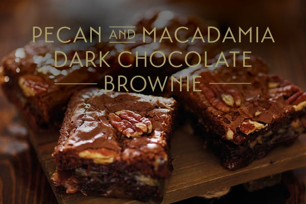 Pecan and Macadamia Dark Chocolate Brownie