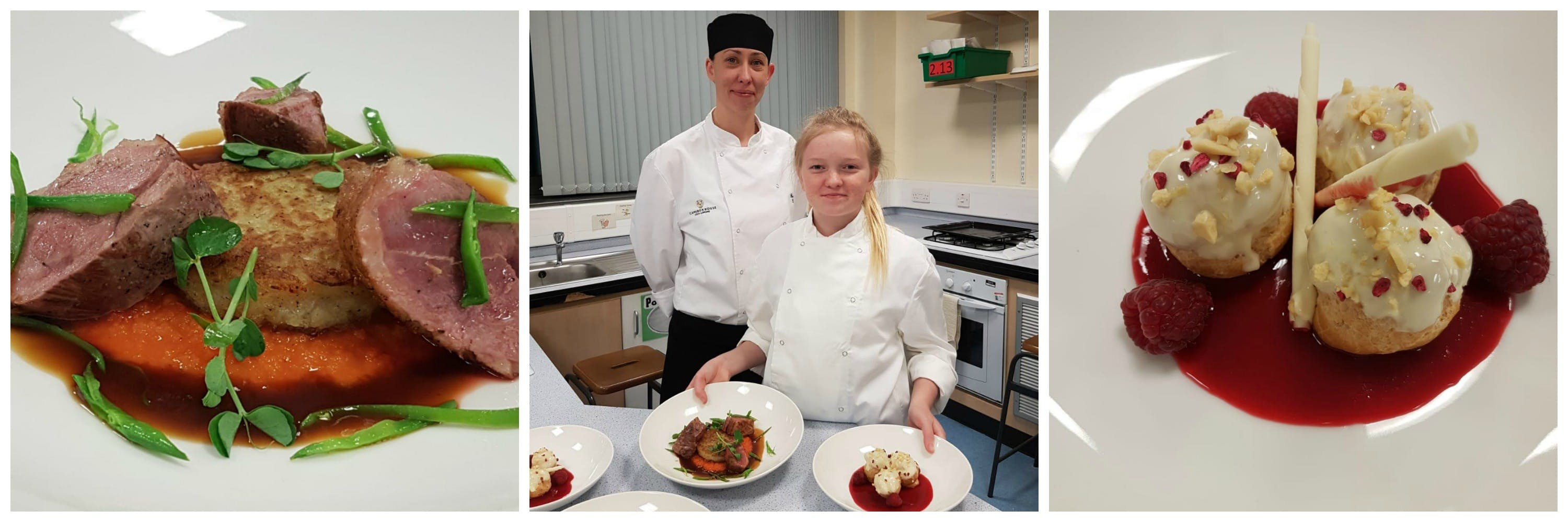 Clubhouse chef mentoring young budding chef
