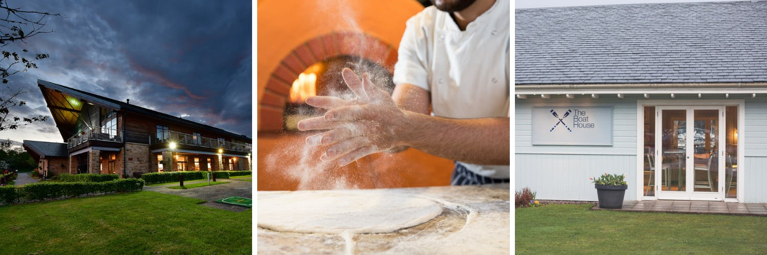 Pizza base making at The Boat House restaurant