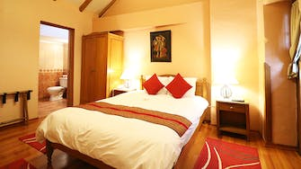 View of the colonial doble room 304 of the Hotel and Mirador Los Apus by Prima Collection, located in Cusco, Peru.