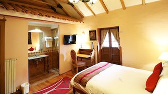 View of the colonial doble room 306 of the Hotel and Mirador Los Apus by Prima Collection, located in Cusco, Peru.