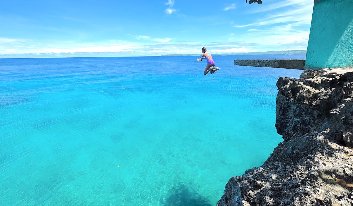 salagdoong cliff jumping white villas resort island tours - website banner