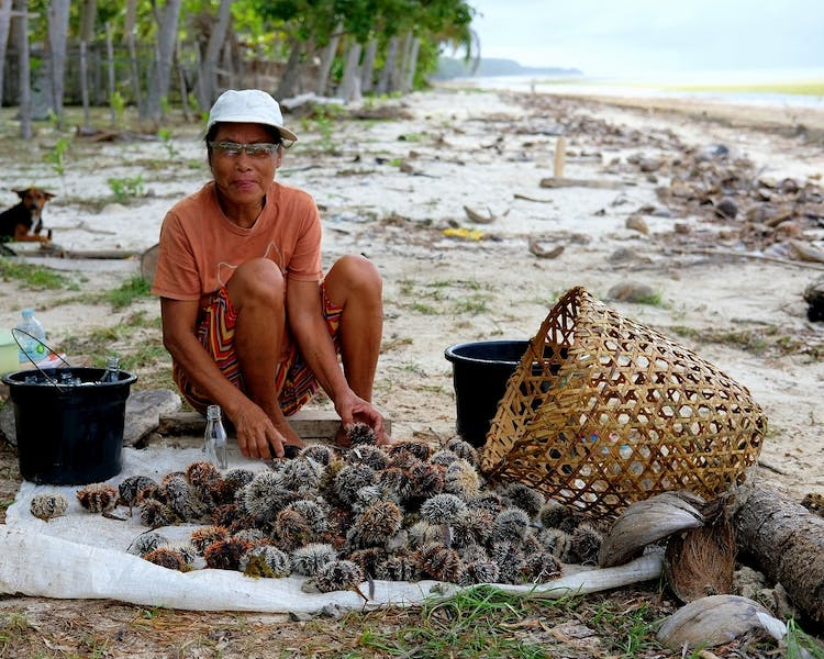 Siquijor Island White Villas Resort Solangon Sea Urchin Fishers 1MB