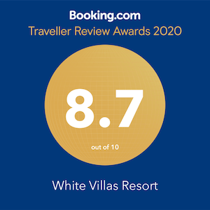 white villas resort award
