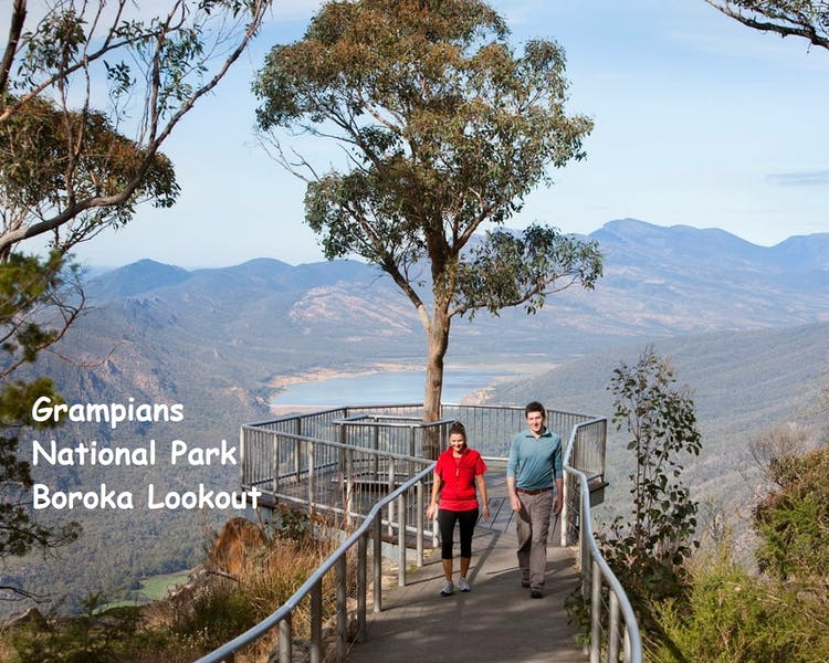 Boroka Lookout with amazing views of Halls Gap