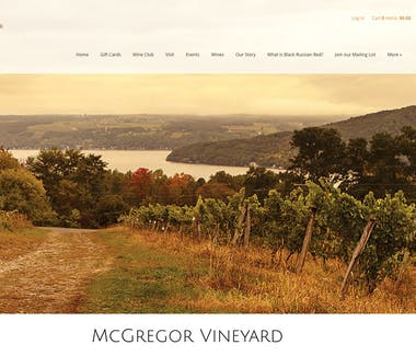18 Vine Inn and Carriage House - Area Attractions, McGregor Vineyards