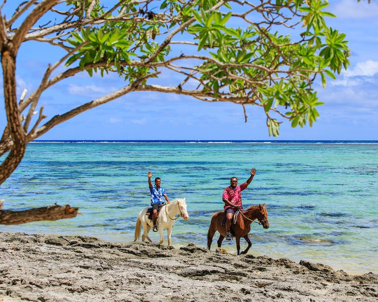 Beautiful Scenic Activities Coral Coast Fiji beach horseriding