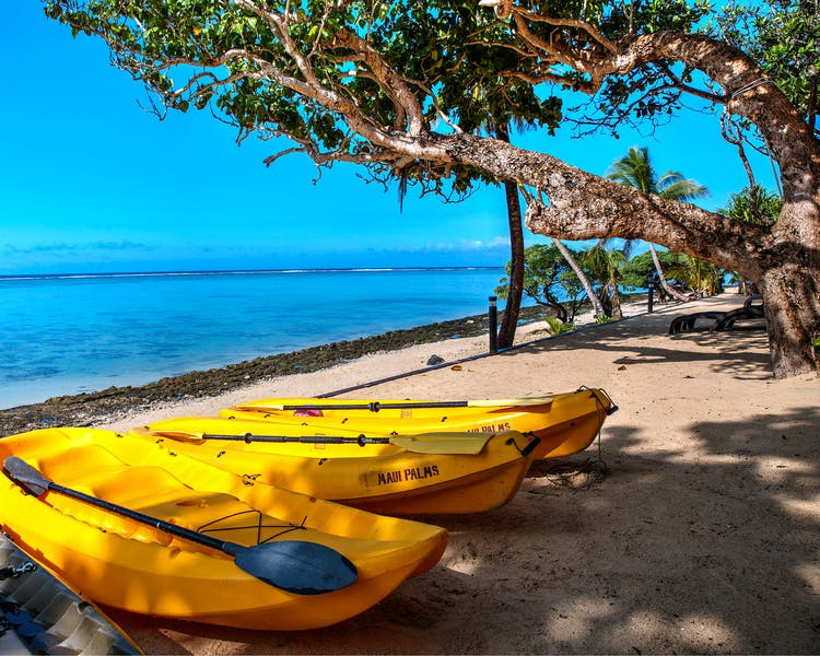 beachfront boutique hotel coral coast fiji ocean kayaking water sports