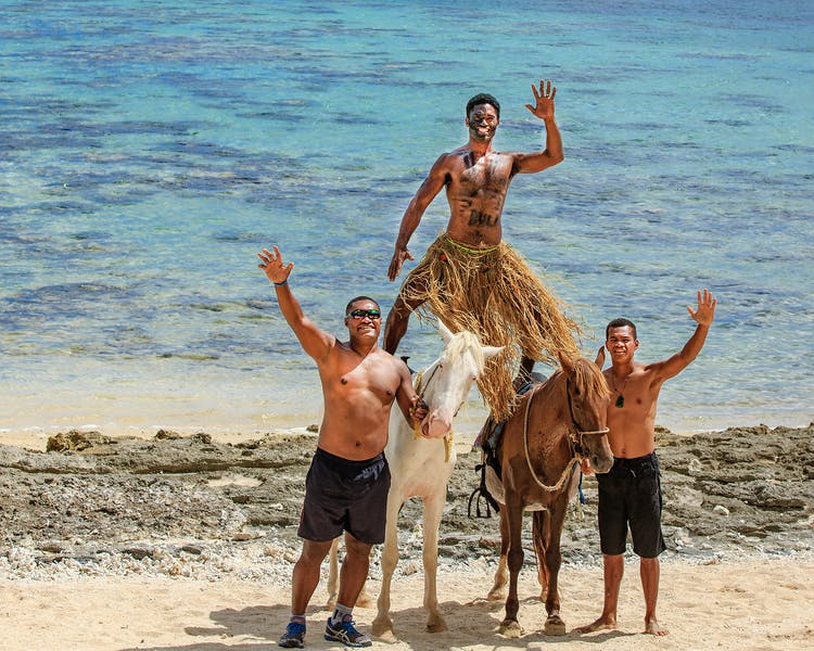 beachfront boutique hotel coral coast fiji beach horse riding