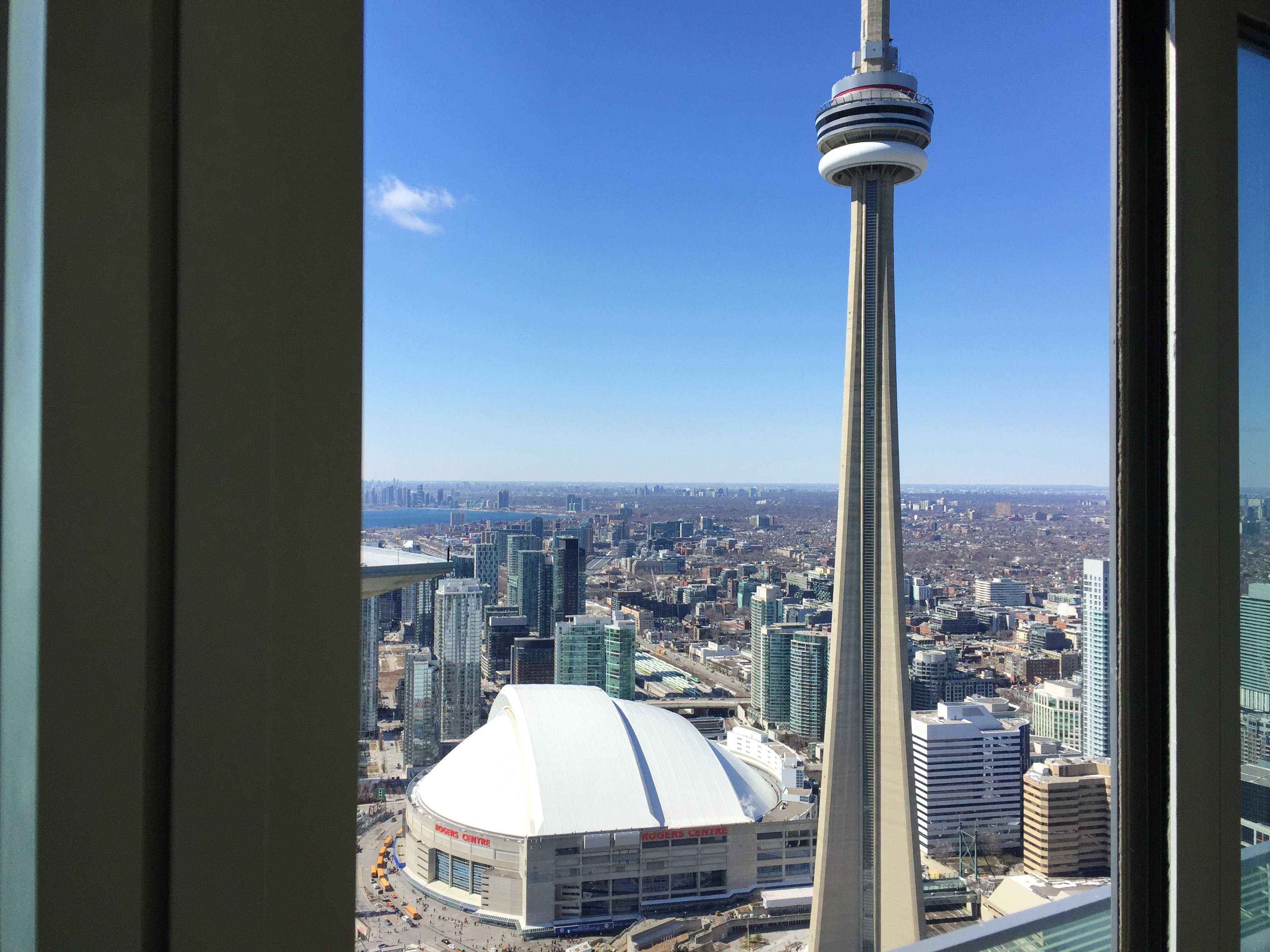 CN Tower and Rogers Centre from iHost Suites