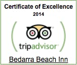 Bedarra Beach Inn - Certificate of Excellence 2014