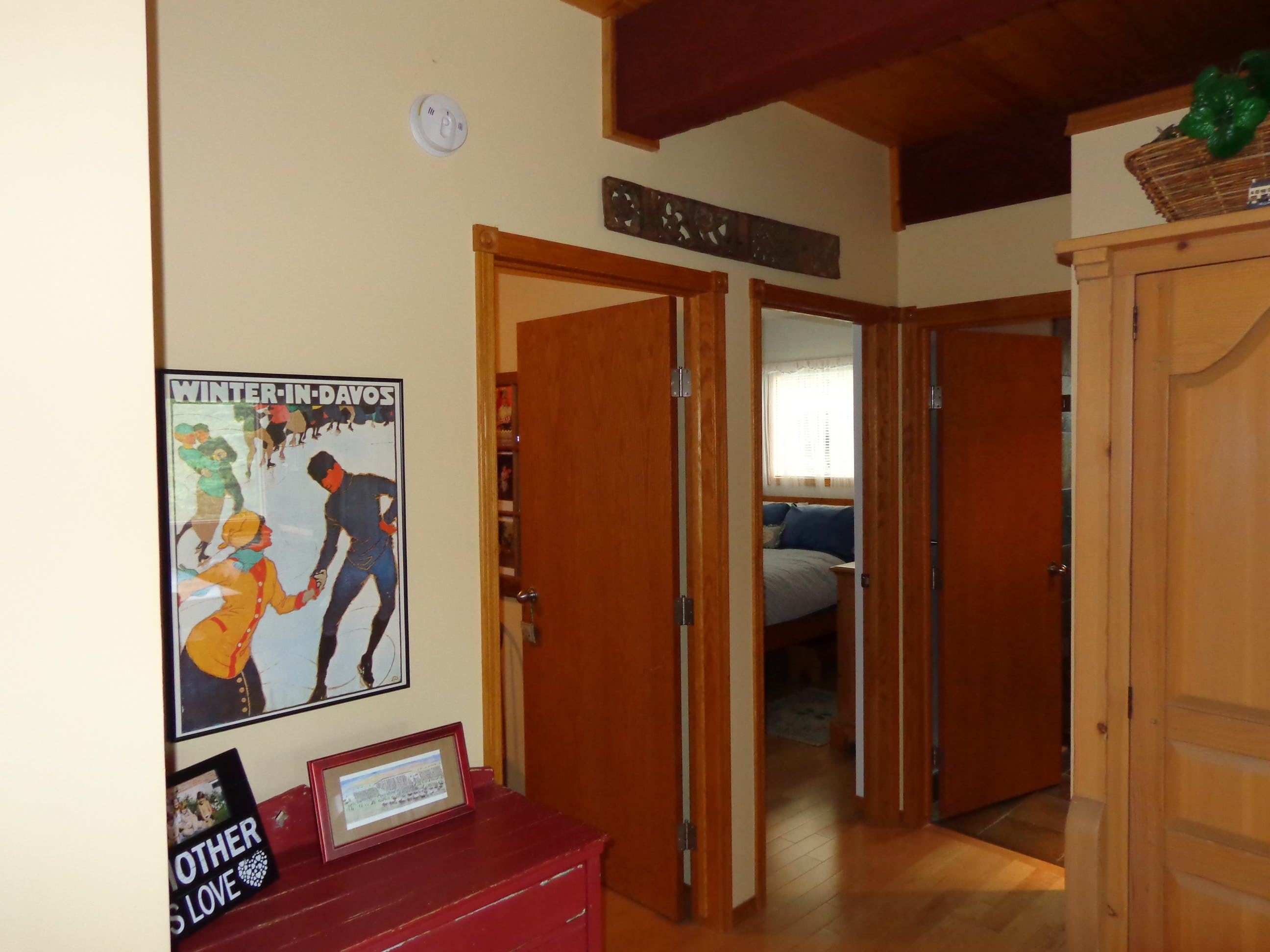 Entry to the Garden View suite - private bedroom, den and bathroom