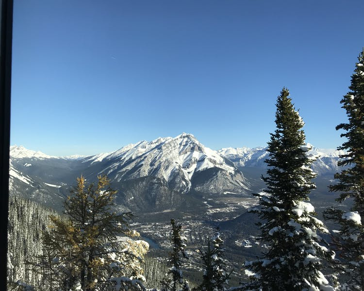 Cascade Mountain view from Sulfur Mountain in Banff