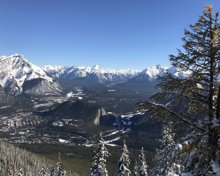 Beautiful Banff View from Sulfur Mountain