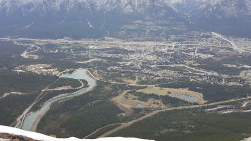 more views of Canmore from above