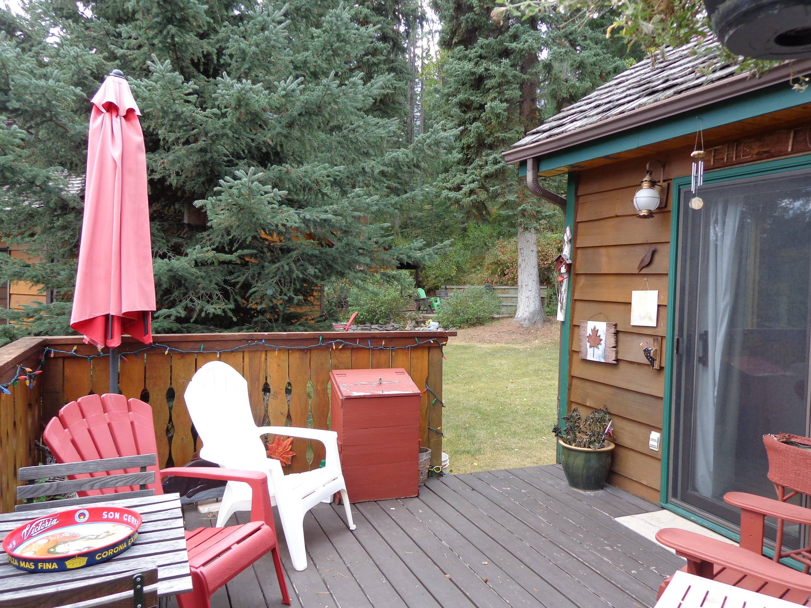 Relax or BBQ on the front deck when the weather is good