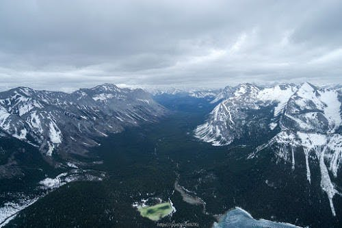 Helicopter riders view of the Bow Valley