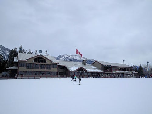 Start/finish your day skiing or biking at Canmore Nordic ski centre