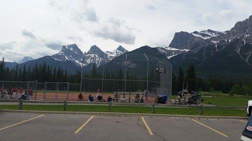 sports at millennial park in Canmore