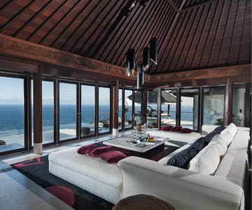 The View Villa Living Room at The edge Luxury Villa Resort, Uluwatu Bali