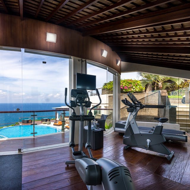 The Workout GYM at The edge Luxury Villa Resort, Uluwatu Bali