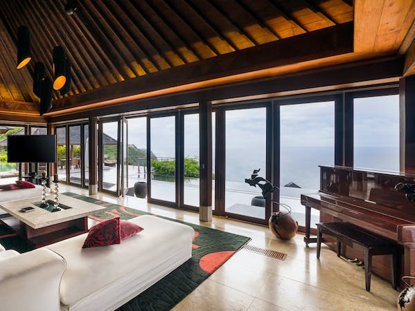The view villa - Living room at The edge Luxury Villa Resort, Uluwatu Bali