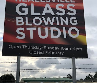 Healesville Glass blowing sign