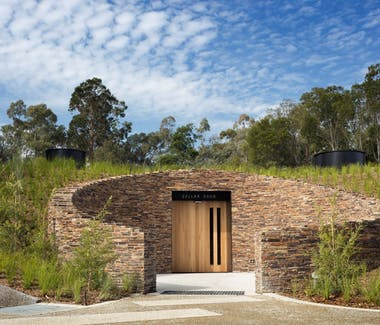 Tarra Warra wine tasting room from the outside