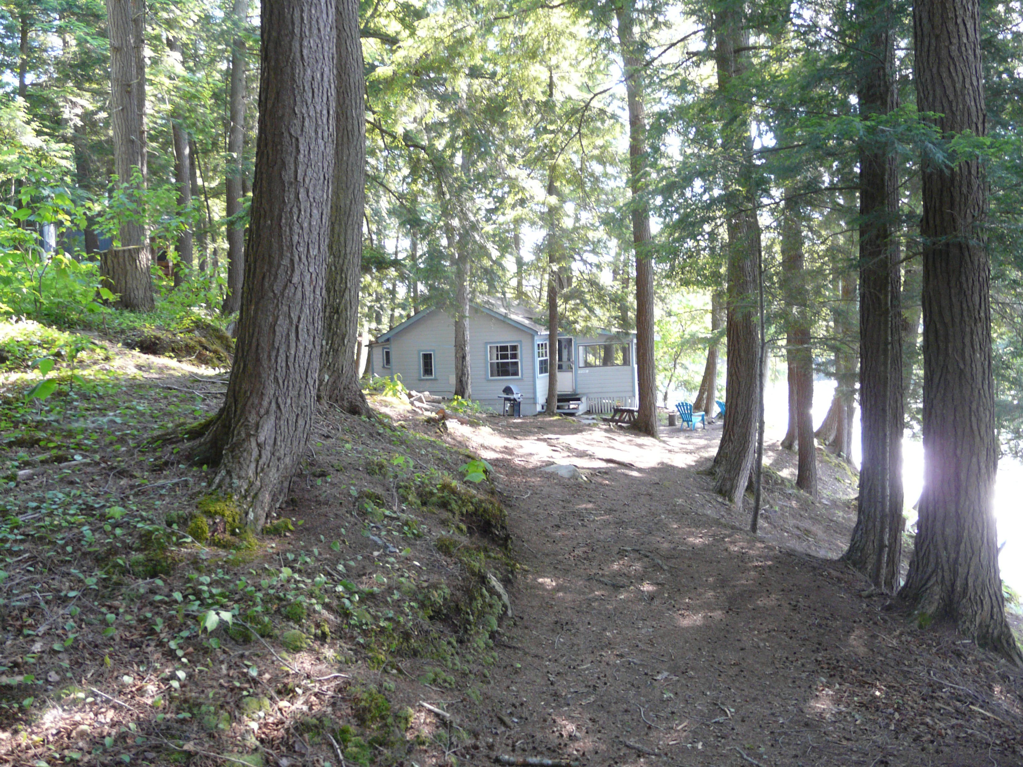 Cozy lakeside cottage rental nestled in the woods on beautiful Walker Lake in Muskoka near Huntsville and Algonquin Park