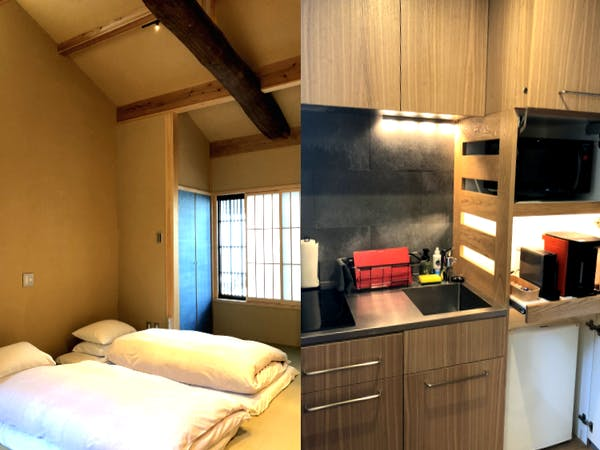 Shimaya Stays Komatsu Residences - 1BR Living Area and Kitchenette