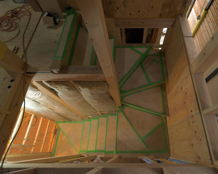 Shimaya Stays Komatsu Residences Construction - Internal Staircase