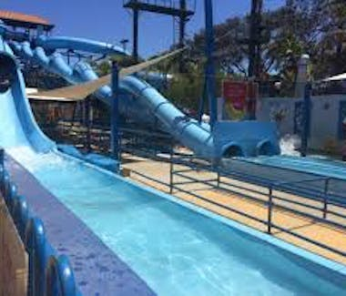 Water slides at Hillary's Boat Harbour
