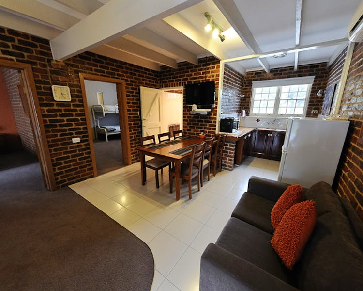 A view of the Wattle cottage this is a 2 bed room cottage.
