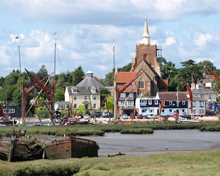 Maldon is a very attractive town on the coast nearby.