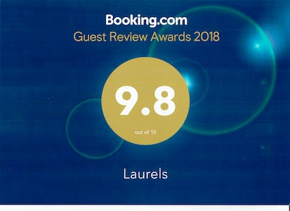 Booking.com award 9.8 out of 10